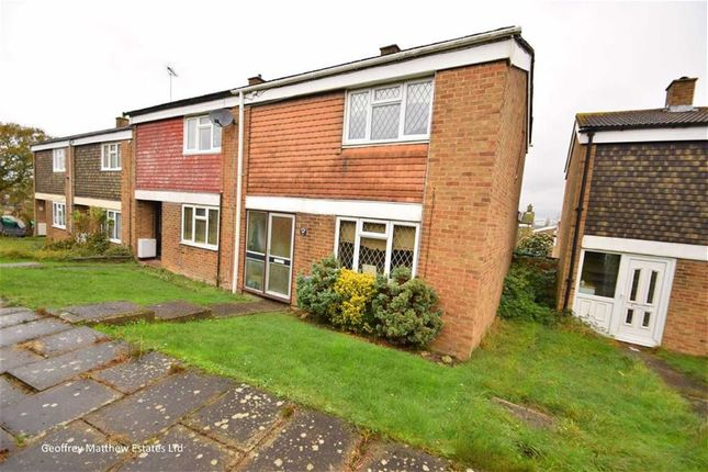 Thumbnail End terrace house for sale in Rundells, Harlow, Essex