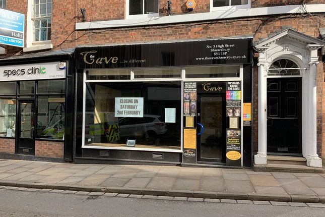 Thumbnail Retail premises to let in High Street, Shrewsbury