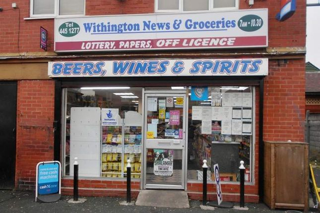 Thumbnail Retail premises for sale in Mauldeth Road, Withington, Manchester