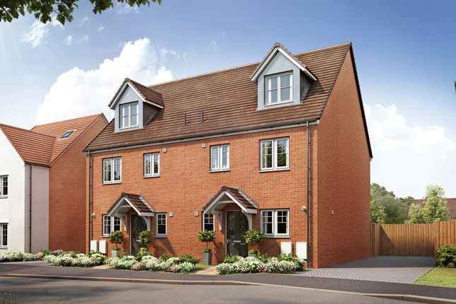 """Thumbnail Semi-detached house for sale in """"The Kegworth"""" at Spetchley, Worcester"""