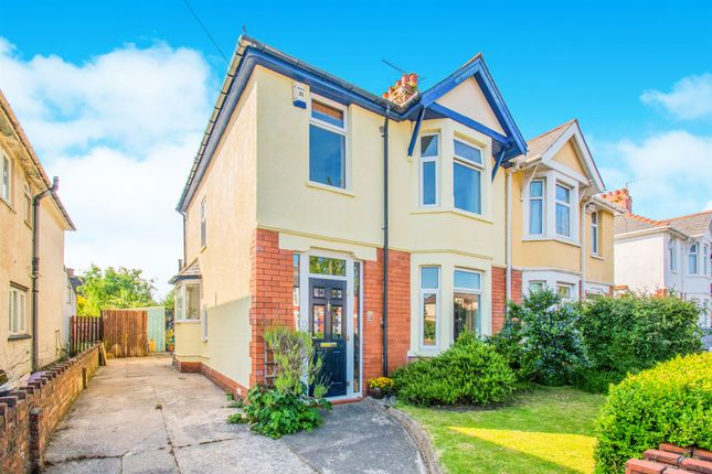 Thumbnail Semi-detached house for sale in College Road, Llandaff North, Cardiff