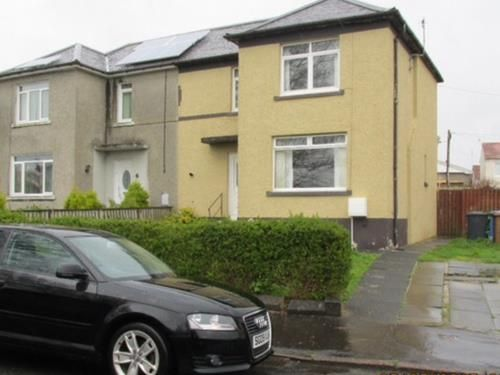 Thumbnail End terrace house to rent in Saughtree Avenue, Saltcoats