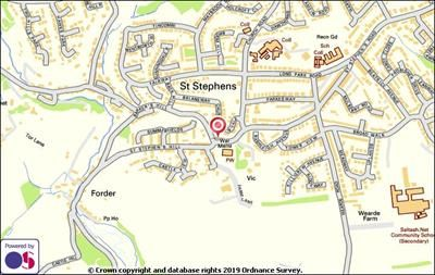 Location of Former Public Conveniences, St Stephens Hill, Saltash, Cornwall PL12
