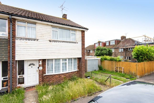 Thumbnail End terrace house for sale in Pilgrims Close, Worthing