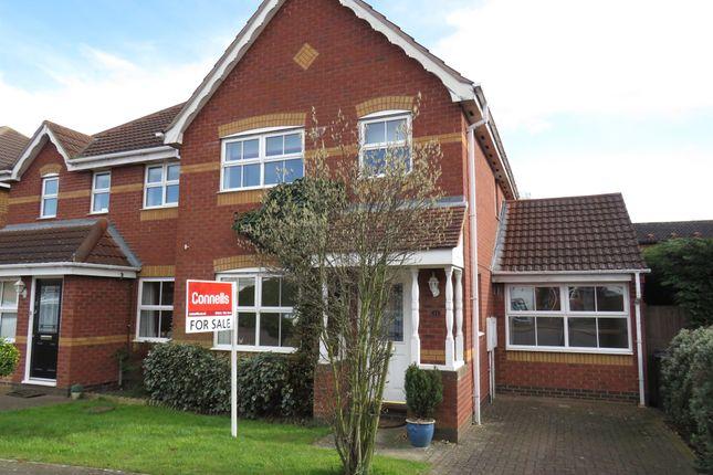 Thumbnail Semi-detached house for sale in Battle Close, Simpson Manor, Northampton