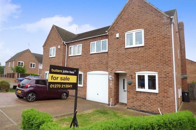 Thumbnail Semi-detached house for sale in Walnut Close, Hough, Crewe