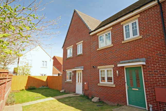 Thumbnail End terrace house for sale in Secunda Way, Hempsted, Gloucester