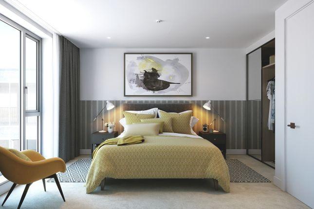 Bedroom CGI of 58 Grange Road, Bermondsey SE1