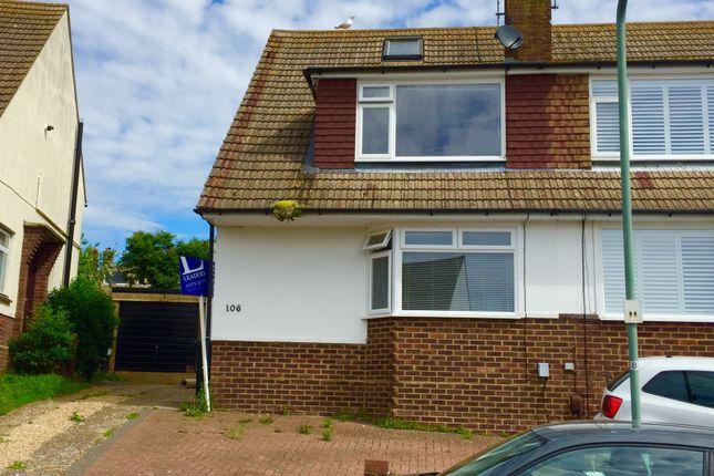 Thumbnail Property to rent in Heathfield Crescent, Portslade, Brighton