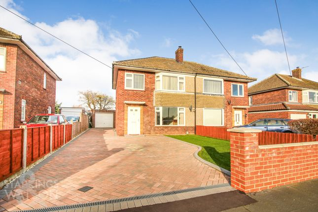 Thumbnail Semi-detached house for sale in Upper Breckland Road, Costessey, Norwich