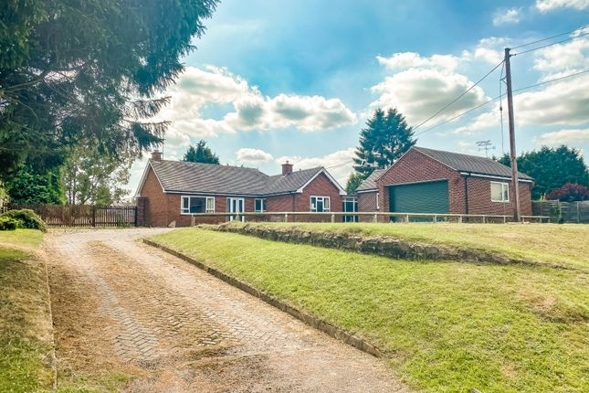 Thumbnail Detached bungalow for sale in Station Road, Broughton Astley, Leicestershire