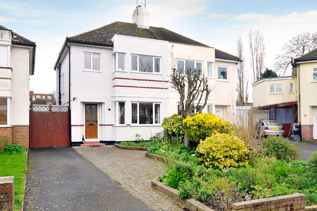 Thumbnail Semi-detached house for sale in Mersham Gardens, Goring-By-Sea, Worthing