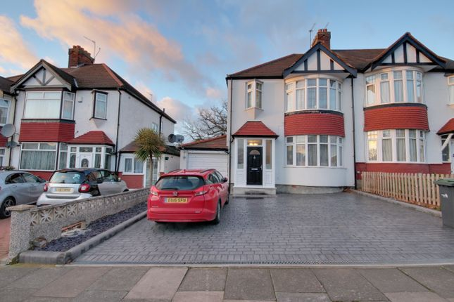 Thumbnail Semi-detached house for sale in Oakwood Crescent, Winchmore Hill