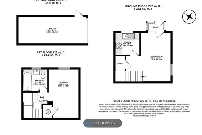 Floorplan of Dovecote Road, Reading RG2