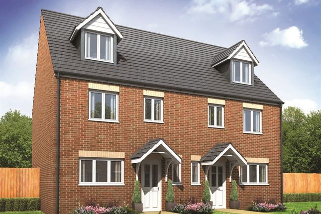 """Thumbnail Semi-detached house for sale in """"The Leicester"""" at Fordh Talgarrek, Truro"""