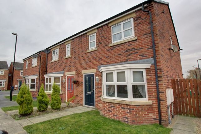 Thumbnail Semi-detached house for sale in Sidings Place, Fencehouses, Houghton Le Spring