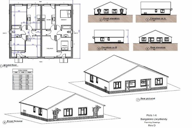 Thumbnail Semi-detached bungalow for sale in Land To Rear Of 22, Llwynhendy Road, Llanelli