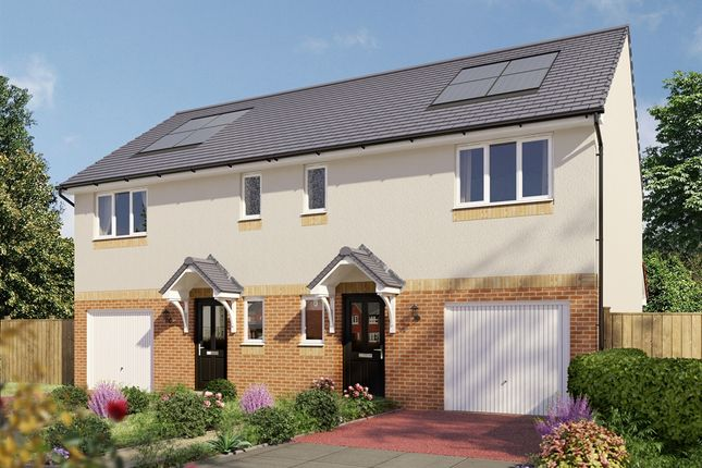 """Thumbnail Semi-detached house for sale in """"The Newton """" at Chrisella Terrace, Vellore Road, Maddiston, Falkirk"""