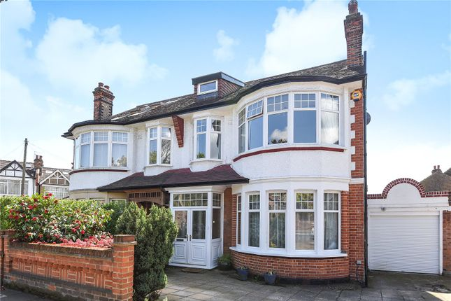 Thumbnail Semi-detached house for sale in Broomfield Lane, Palmers Green, London