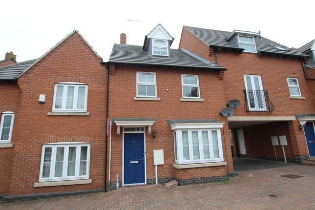 Thumbnail Town house to rent in Montgomery Road, Earl Shilton, Leicester