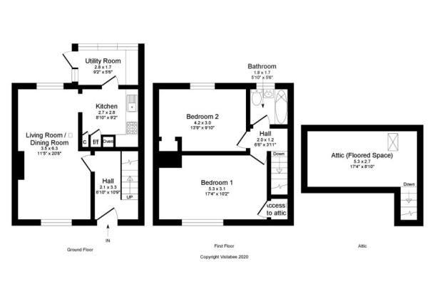 Floor Plan of Egilsay Place, Milton, Glasgow G22