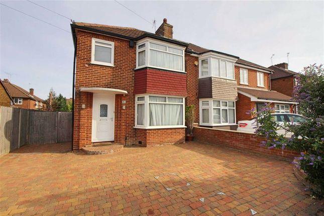 Thumbnail Semi-detached house to rent in Manor Way, Borehamwood, Herts