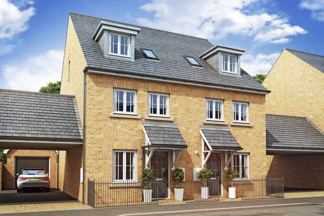 "Thumbnail Semi-detached house for sale in ""Rochester"" at Priorswood, Taunton"