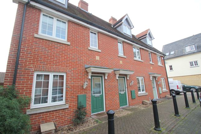Thumbnail Terraced house to rent in Weetmans Drive, Colchester