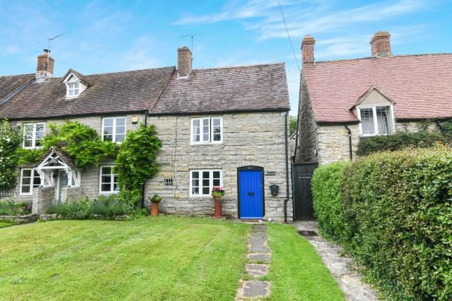 Thumbnail End terrace house for sale in The Green, Cleeve Prior, Evesham, Worcestershire