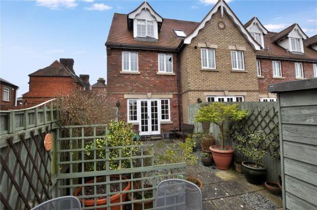 Thumbnail End terrace house for sale in Corn Mill Court, West Road, Saffron Walden, Essex
