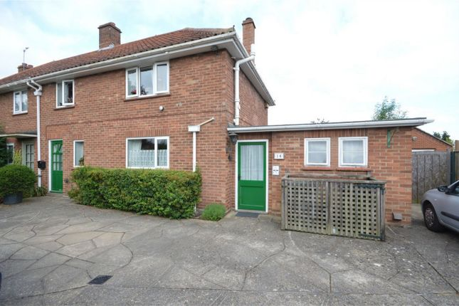Thumbnail Semi-detached house for sale in Adams Road, Sprowston, Norwich, Norfolk