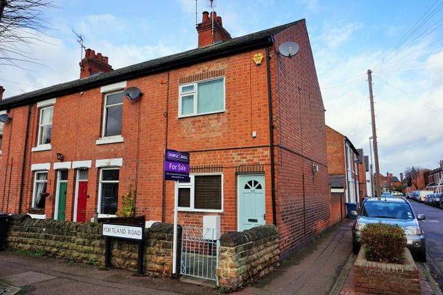 Thumbnail End terrace house to rent in Portland Road, West Bridgford