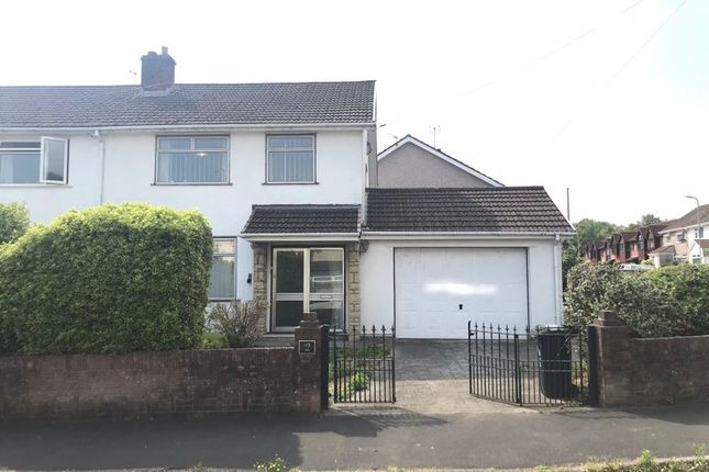 Thumbnail Semi-detached house to rent in Tregwilym Close, Rogerstone, Newport