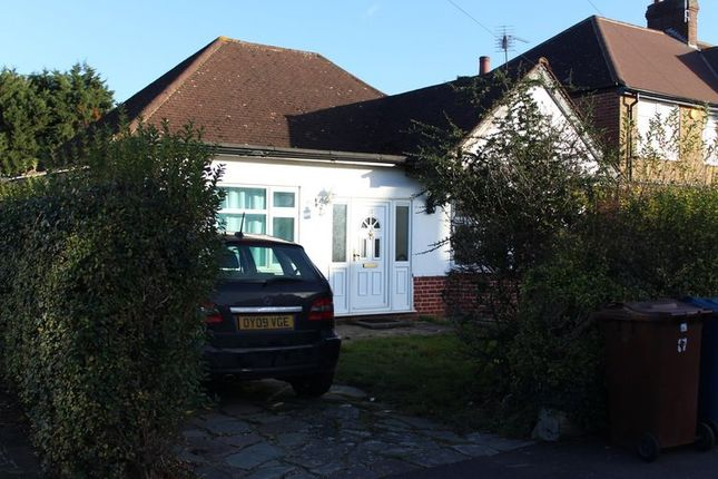 Thumbnail Detached bungalow to rent in Grasmere Gardens, Harrow