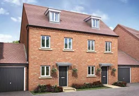 "Thumbnail Town house for sale in ""The Carlton"" at Darrall Road, Lawley Village, Telford"