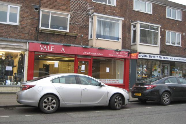 Thumbnail Retail premises to let in 39 Well Street, Ruthin