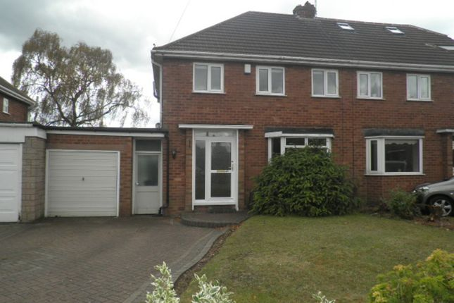 Thumbnail Semi-detached house to rent in Fotherley Brook Road, Aldridge, Walsall