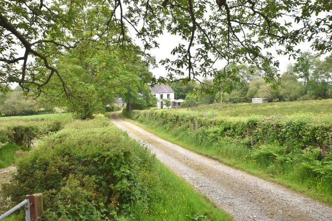 Thumbnail Farmhouse for sale in Llanllwni, Carmarthenshire