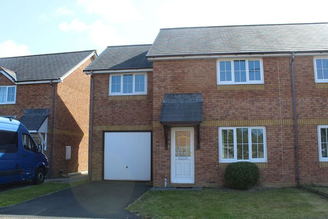 Thumbnail Semi-detached house to rent in Clos Ceitho, Aberystwyth