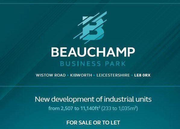 Thumbnail Industrial for sale in Beauchamp Business Park - Industrial, Wistow Road, Kibworth