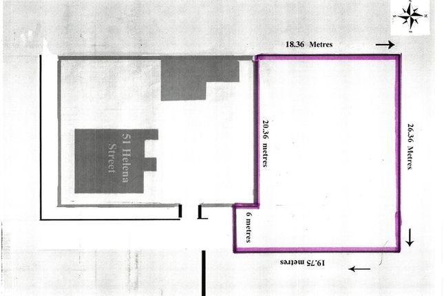Thumbnail Land for sale in 51 Helena Street, Mexborough, South Yorkshire