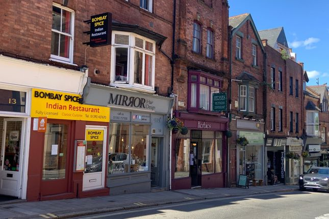 Retail premises to let in North Street, Exeter
