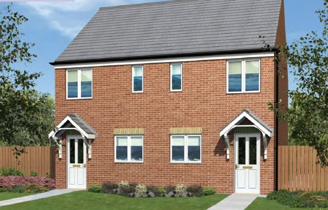 "Thumbnail Semi-detached house for sale in ""The Moulton"" at Scalford Road, Melton Mowbray"