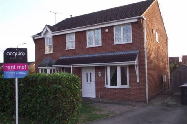 Thumbnail Semi-detached house to rent in Pulborough Gardens, Littleover, Derby