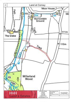 Site Plan of Land And Buildings At Corney Mill, Waberthwaite, Cumbria LA19