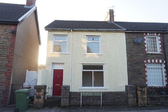 Thumbnail End terrace house for sale in Penmaen Road, Pontllanfraith, Blackwood