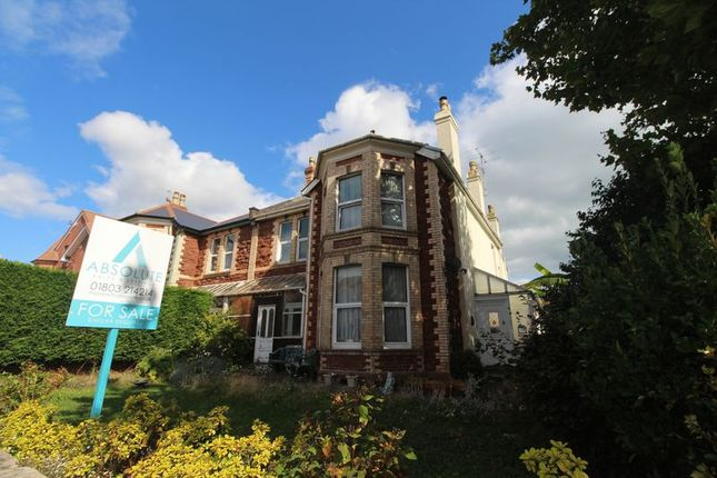 Thumbnail Semi-detached house for sale in Torquay Road, Paignton