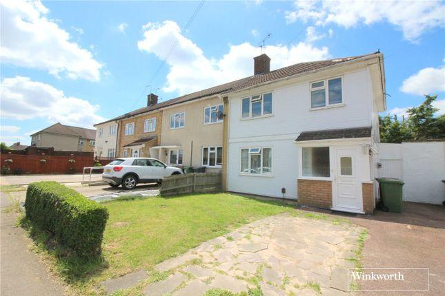 Thumbnail End terrace house for sale in Rossington Avenue, Borehamwood