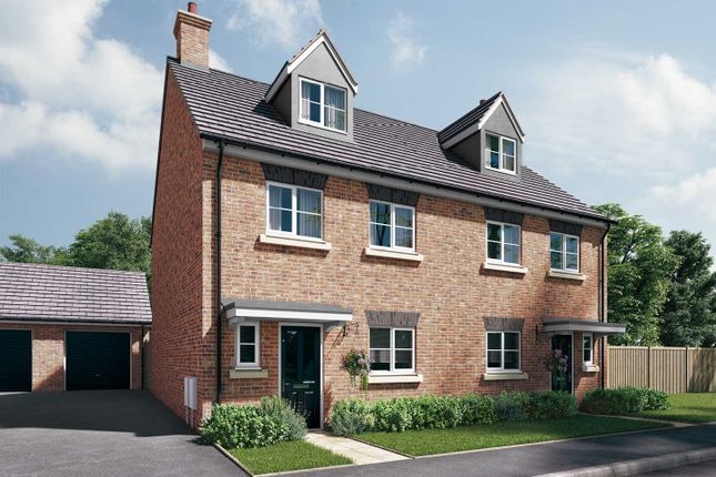 "Thumbnail Semi-detached house for sale in ""The Aslin"" at Station Approach, Westbury"