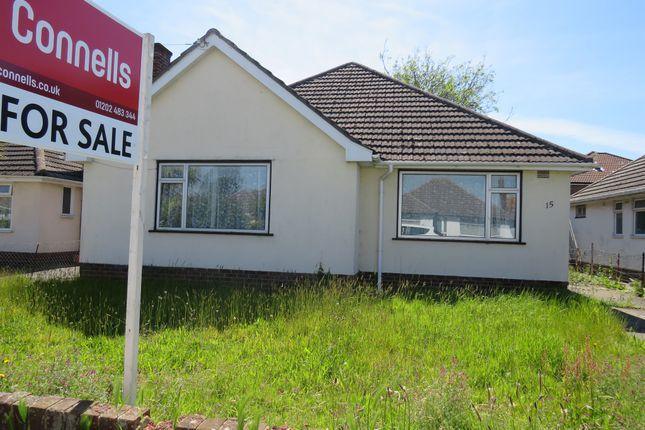Thumbnail Detached bungalow for sale in Croft Road, Christchurch